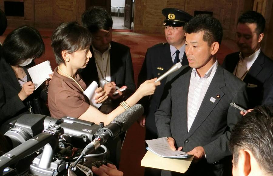 国会運営に関する報道の取材